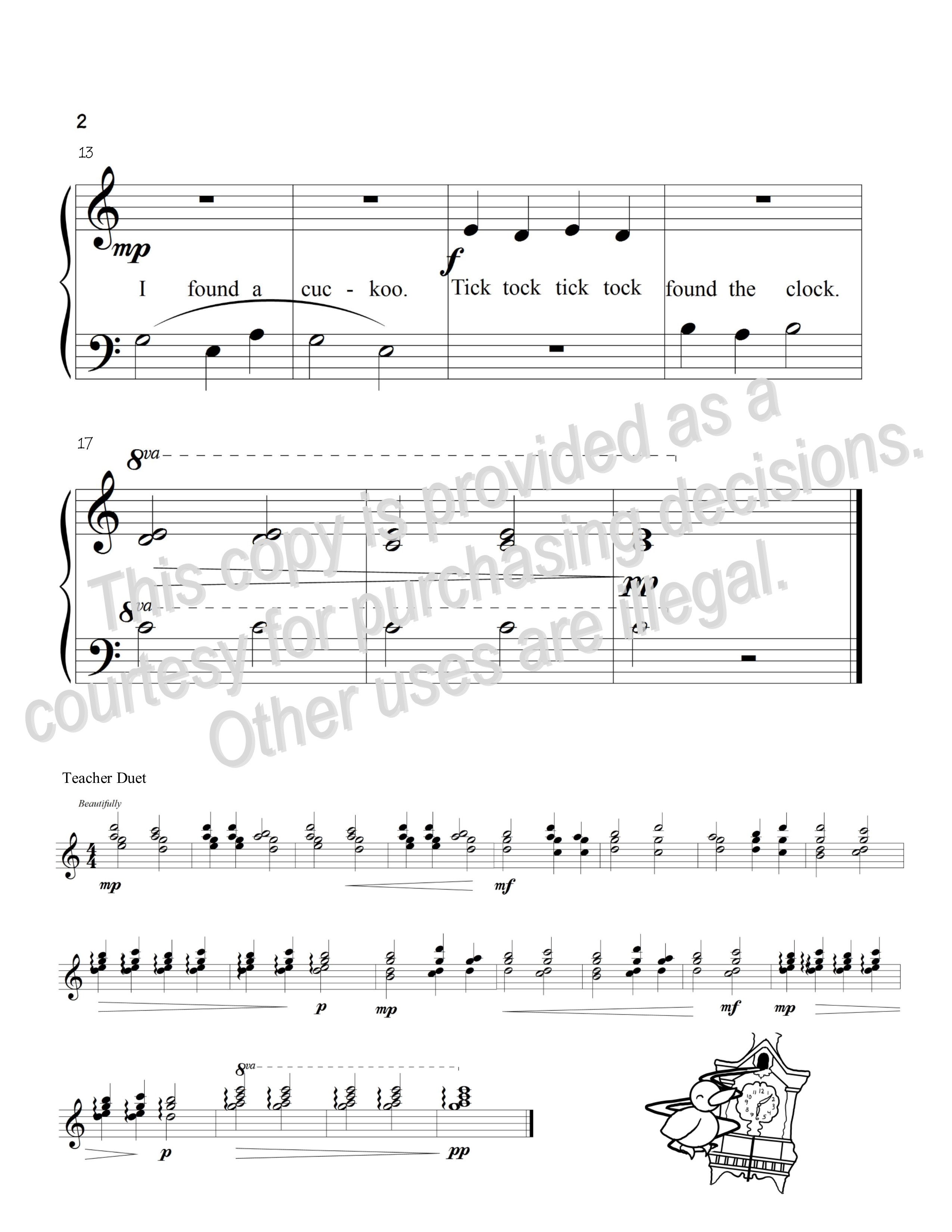 what time is it - by janet soller: piano solo primary sheet music  alpha major