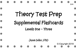 Theory Test Prep Supplemental Flashcards Levels 1-3 - By Janet Soller: Piano Music Lesson Flashcards