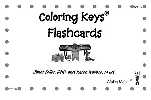 Coloring Keys Flashcards - By Janet Soller and Karen Wallace: Piano Music Lesson Flashcards