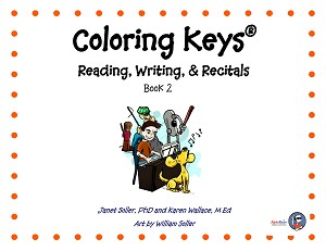 Coloring Keys Reading, Writing, & Recitals Book 2 - By Janet Soller and Karen Wallace: Piano Music Lesson Book