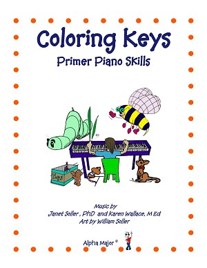 Coloring Keys Primer Piano Skills (Reproducible) - By Janet Soller and Karen Wallace: Piano Music Lesson Book