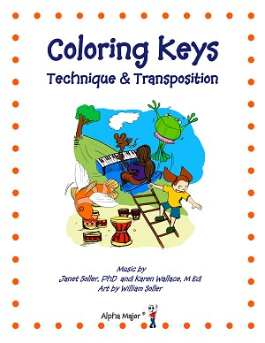 Coloring Keys Technique & Transposition (Reproducible) - By Janet Soller and Karen Wallace: Piano Music Lesson Book